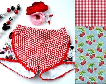 SALE Little Lady's Cherry pickin' Coachella Petal shorts 2T-10