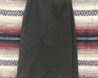 Vintage Handmade Grey Pencil Skirt: XS