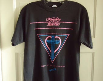 Vintage 80s Mylon LeFevre and Broken Hearts CHRISTIAN Rock Concert T Shirt sz S