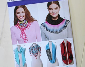 Simplicity Paper Sewing Pattern 1127 for 6 Types of Neck Scarf (Misses Scarves) Skill Level: Easy