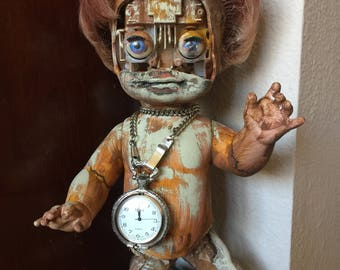 A Clockwork Doll - OOAK Assemblage Doll Art