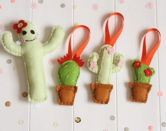 DIY Cactus Pincushion and Decoration Kit, Felt Cactus Sewing Kit, Cactus Pincushion Kit, Make Your Own Cactus Craft Kit, Cactus Decorations