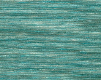 Turquoise Ombre Stripe Upholstery Fabric Aqua Blue Teal