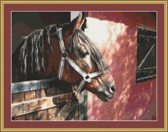 Stable Door Cross Stitch Pattern /Digital PDF Files /Instant downloadable