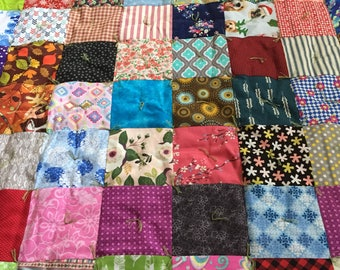 Handmade Lap Quilt, Crazy Quilt, Blanket, Throw, Wall Hanging