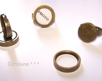 Bronze ring photo frame. Change your ring with your mood