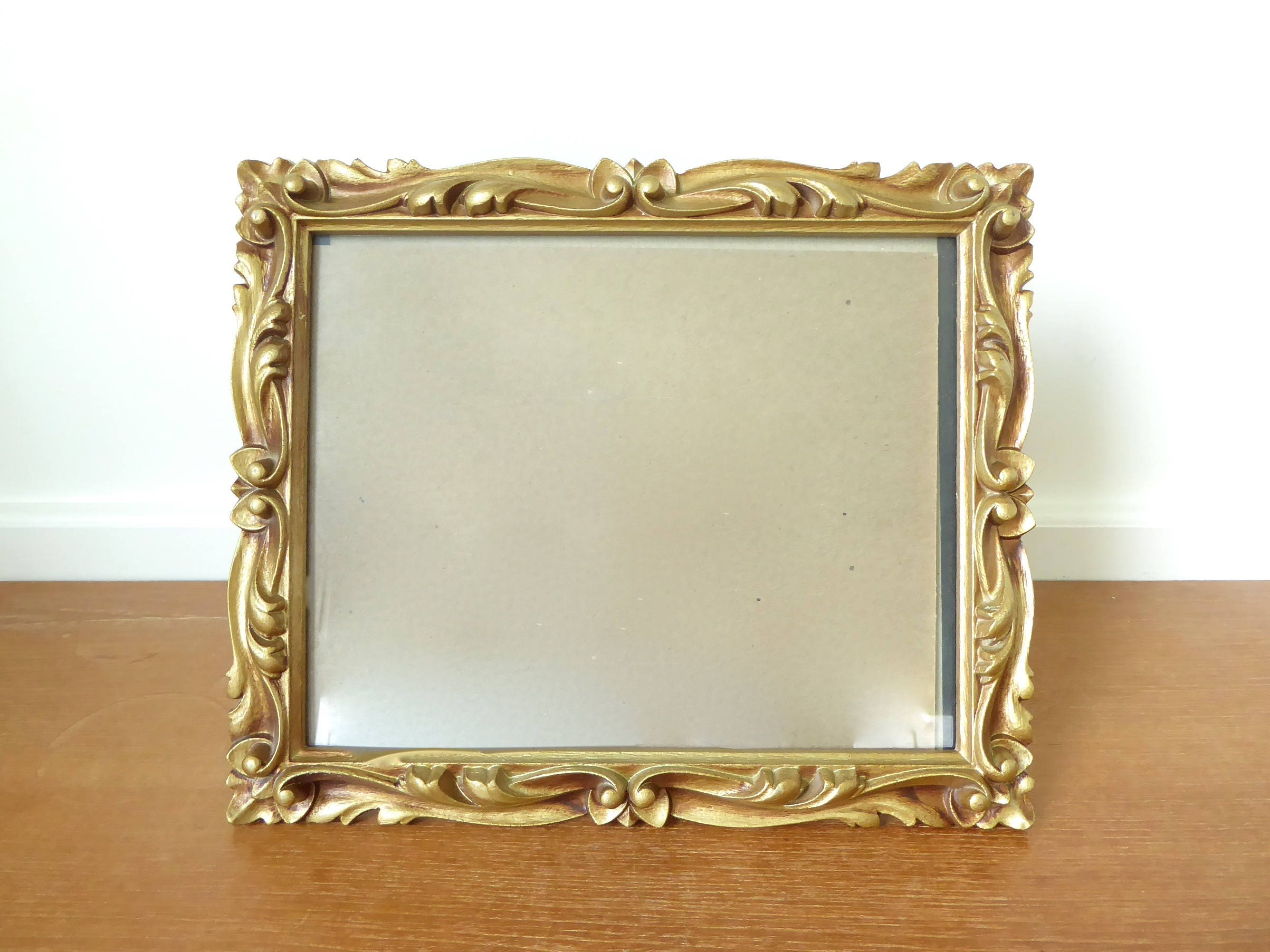 Carved wood look resin picture frame with sharp deep scrolled description this intricate carved wood look frame jeuxipadfo Image collections