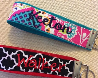 Personalized Key Chain Wristlet
