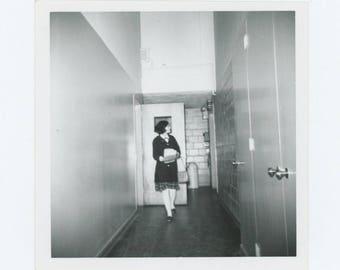 Vintage Snapshot Photo: Corridor (710616)