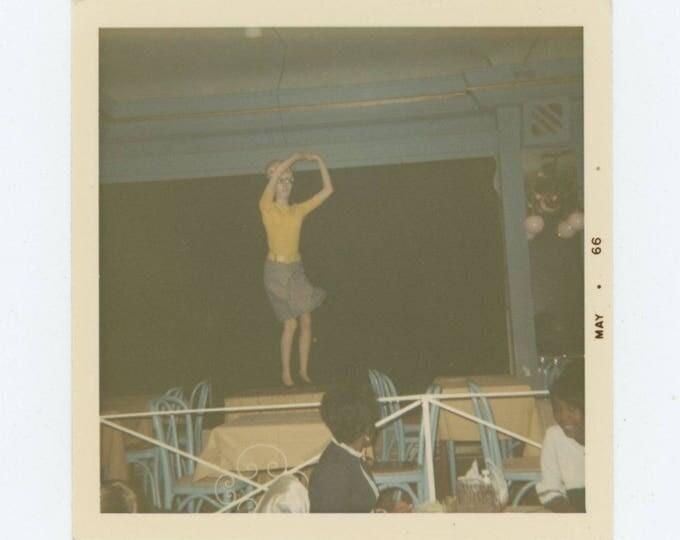 Table Top Dancer, 1966: Vintage Snapshot Photo (78599)