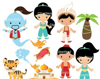 ON SALE INSTANT Download. Cal_8_addin. Aladdin clip art. Personal and commercial use.
