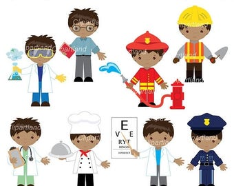 ON SALE INSTANT Download. Profession occupation boy clip art. Cpr_3. Personal and commercial use.