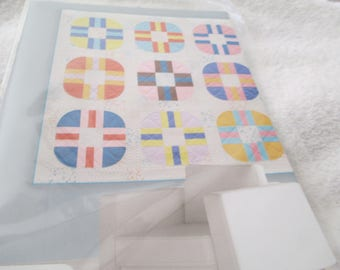 """Paper Pattern for a quilt called Rolling Smart designed by Zen Chic for Moda 75"""" square"""