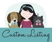 Custom Order for Nancy - 3 extra large pet bow ties - 1 maple leaf, 1 woodstock, 1 animal print