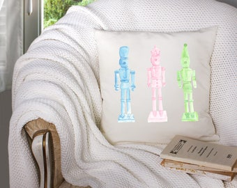 christmas throw pillow - modern nutcracker throw pillow - nutcracker pillow - modern nutcracker for christmas - nutcracker watercolor