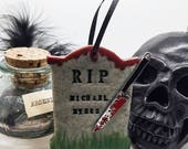 25k FB Likes Michael Myers Halloween Gravestone Halloween Decoration Spooky decoration bloody knife gothic Christmas