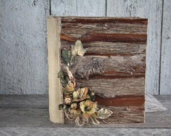 rustic chic photo album personalised 4x6 photo album wooden