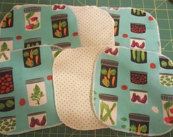 Mason Jar themed reusable napkins or wipes