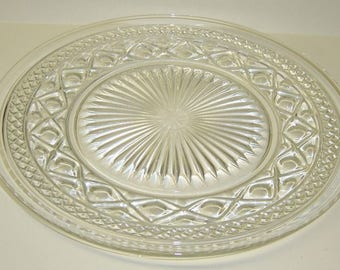 Imperial Glass Crystal CAPE COD 10 1/8 Inch Dinner PLATE