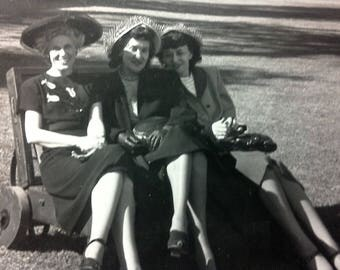 vintage happy ladies photograph