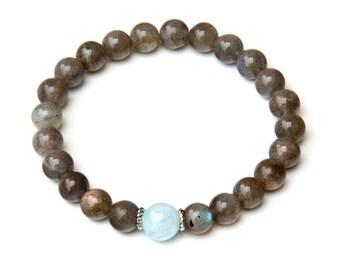 labradorite bracelet, labradorite, healing bracelet, labradorite jewelry, gemstone bracelet, beaded bracelet , yoga bracelet, bracelet