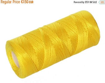 ON SALE 15 Meters Macrame Thread - Nylon Thread - Beading Cord - Bead Crochet Rope 0.8mm - CANARY Yellow