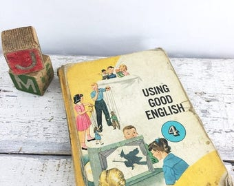SUMMER SALE Vintage Children's Grammar Text Book