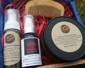 Men's Beard Kit, Citrus Mint Beard Grooming Kit