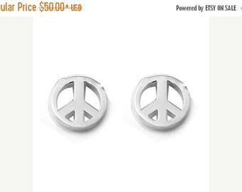 ON SALE PEACE Petite Stud Earrings