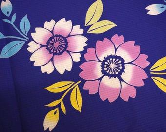 Sakura Vintage Japanese cotton kimono fabric