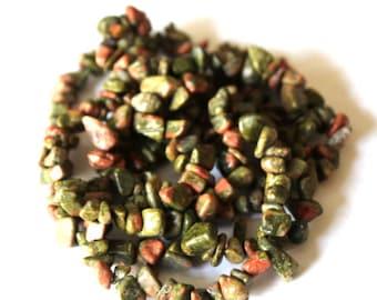 Unakite Chip Gemstone Beads