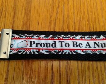 Proud To Be A Nurse Key Fob