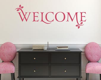 Welcome Vinyl Decal Wall Quote L212