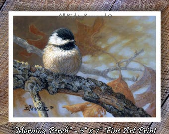 Chickadee Print - Chickadee - Wild Bird Prints - Song Bird Prints - Wildlife Prints