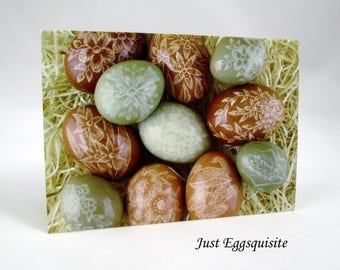 3 Blank Note Cards, Pysanky Note Cards, Egg Note Cards, Ukrainian Egg Cards, Easter Cards, Ukrainian Stationery, Easter Egg Note Cards