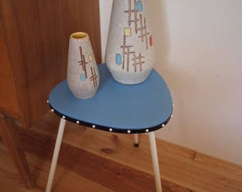 50's kitchen stool side table planter stand vintage