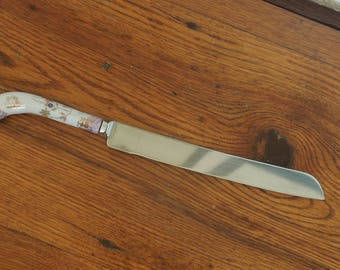 Vintage Porcelain Handle Stainless Steel Knife Wedding Cake