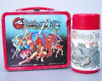Vintage 1985 Thundercats Metal Lunchbox with Thermos Very Rare