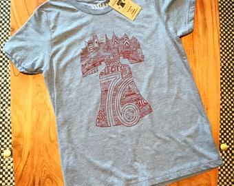 FREE SHIPPING -- Liberty Bell  -- Paul Carpenter Art -- Kids T-Shirt