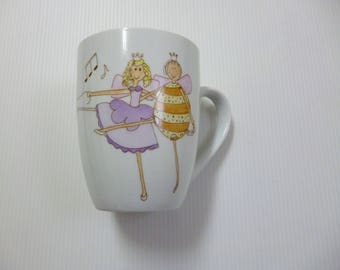 """Fairies dancing"" porcelain mug"