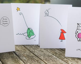 wishing on a star green frog greeting cards