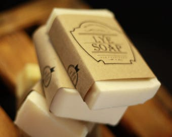 FOUR BARS-The Amazing Sudsy Bar-Old Fashioned Lye Soap.  Great for Laundry Stains.  Old-world style.  All natural.