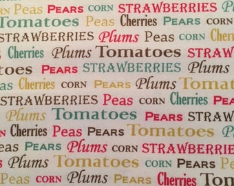 Vegetable Text from Garden Variety by Quilting Treasures