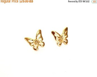 SALE - Butterfly Stud Earrings, 14k Gold filled earrings