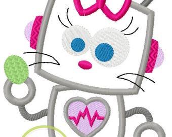 Robot Girl Easter Bunny Shirt with Name - Custom Easter Shirt - Easter Robot