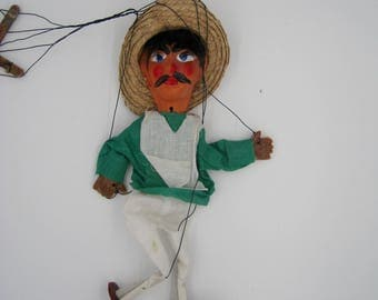 Mexican Marionette, in OK condition, needs restringing, Vintage