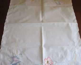 Petite Pastel Embroidered Dresser/Vanity Scarf