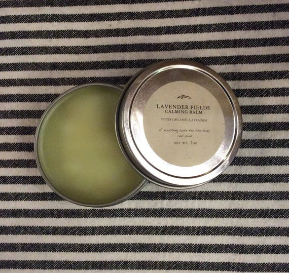 Lavender Calming Balm with organic lavender and avocado oil