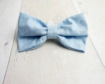 100% cotton dog bow tie.