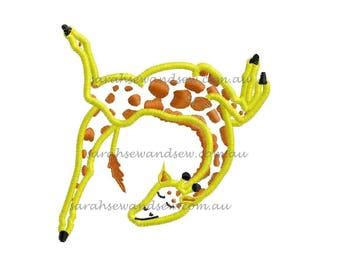 Gerald The Giraffe Machine Embroidery Design
